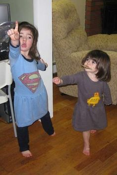 Adult T-shirt to kid's dress in 20 mins.  @Carley Powell Englander, come teach me.