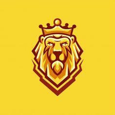 King mascot logo Vectors, Photos and PSD files Game Logo Design, Modern Logo Design, Logo Design Template, Logo Lion, Esports Logo, Initials Logo, Logo Inspiration, Logo Dragon, King Costume