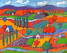 Landscape Paintings favism | Click on any thumbnail to view larger images. Point to top left or ...