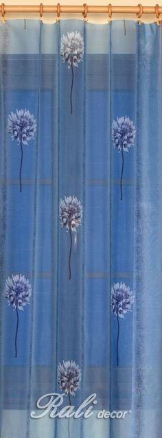 Voál modrý šíře 150cm metráž - RALI Decor, s.r.o. - bytový textil, záclony a povlečení
