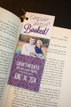Printable Save the Date Bookmarks. Purple. por JustChuggingAlong, $20.00