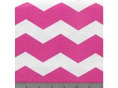 "Pink & White Chevron Fabric | Shop Hobby Lobby ... HMMM.... This says ""dress"" to me."