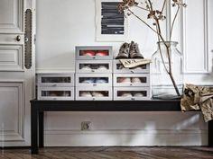 Ein elegantes Zuhause für Schuhe - Schuhkarton Hyfs von Ikea