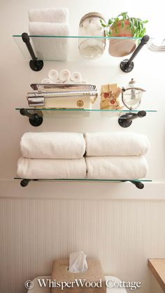 Industrial Shelf Solution For The Guest Bath (or Any Room!)
