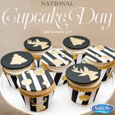Happy National Cupcake Day from Satin Ice! Cupcakes by Angela Morrison of Cakes by Angela Morrison.