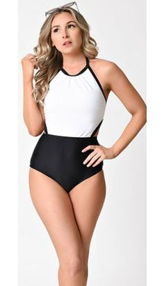 a40439e323911 One Piece Vintage Swimsuits - Shop Cute Retro One Piece Bathing Suits