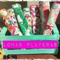 Lonas Playeras Con Bordes Coloridos - $ 180,00