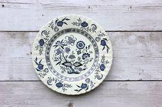 Blue Nordic Dinner Plate J G Meakin English by OldVintageGoodies, $12.00