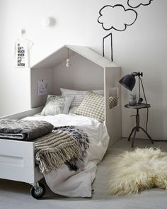 house headboard - twin bed. DIY Free plans and tutorial on Remodelaholic.com