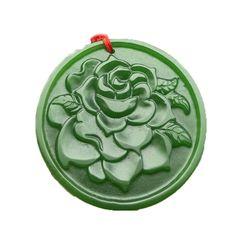 Compre Hetian Biyu Spinach Green Jade Flower Open Rich Colgante Peaceful Jade Pendant A $5.02 Del Zxczj5668078   DHgate.Com Verde Jade, Jade Necklace Pendant, Jade Green, Narnia, Spinach, Polymer Clay, Flowers, Pendants, Royal Icing Flowers