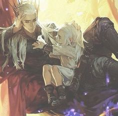 "narley-quaid: "" Thranduil and his baby Legolas """