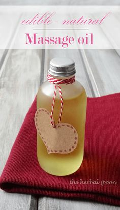 The art of massage has many health benefits. Add some essential oils, and you've got a winning combo with this edible massage oil. This sensual blend will help soothe achy muscles, relieve stress, improve mood and help you connect with your partner.