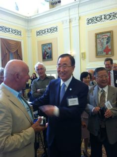 Secretary-General Ban Ki-moon is meeting up with friends who joined him on an American Red Cross Operation VISTA programme 50 years ago.
