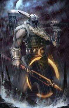 Giant axe slayer warrior