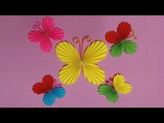 How to Make Butterfly with Color Paper | DIY Paper Butterflies Making - YouTube