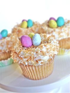 Coconut Cupcakes    Not only cute, but sounds super yum! Must make!