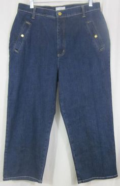 FDJ French Dressing Jeans Size 14 capri Cropped 33x23 1/2 Free Shipping #FDJFrenchDressingJeans #CaprisCropped