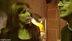Doctor Who Gifset Partners in Crime- Doctor and Donna once again using teamwork to save the day. And I love this because here the Doctor is like nearly having a panic attack because he is afraid once again a lot of people are going to die because he...