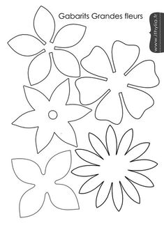 Free flower template for felt flower arrangement – Felt and craft molds Fauna and Flora are two terms frequently heard … Tissue Paper Flowers, Felt Flowers, Diy Flowers, Fabric Flowers, Paper Flower Patterns, Paper Flower Tutorial, Stencil Templates, Stencil Patterns, Felt Crafts