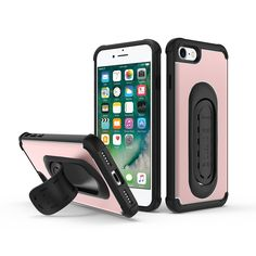 4-in-1 Scooch Clipstic Pro Case for iPhone 7 (Rose Gold). Scooch Clipstic Pro- Embedded FlexSpring alloy design to make your life easier and less cluttered. Patented all in one functional mobile phone case: Mount It, Grip It, Kick It!. Mount It: The most portable and secure car mount in the world- Mount is embedded in the case. Simply click out the Clipstic and place it in your horizontal air vent or flush cd/dvd slot. Use google and apple GPS maps while keeping your phone on your dash…