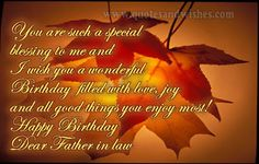 happy birthday sms for father in law