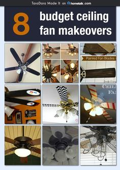 Budget Ceiling Fans: 8 Budget Ceiling Fan Makeovers,Lighting