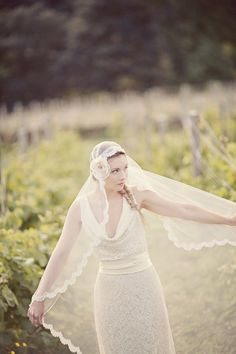 Juliet cap wedding veil. Wow, obsessed with these right now. So unusual yet chic. For bespoke veils visit www.fabricatedalterations.com