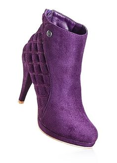 Faux Suede Boots... Bon Prix.... Purple Love, Purple Lilac, All Things Purple, Shades Of Purple, Deep Purple, Purple Stuff, Bootie Boots, Shoe Boots, Ankle Boots