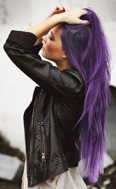 long purple hair #rebel #ghdSecrets