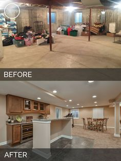 Bolingbrook Before After Basement Finish Project Sebring