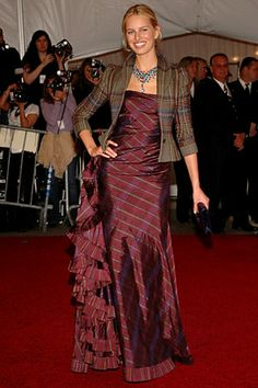 mismatched red carpet plaids, taffeta and tweed
