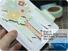Embossing with washi tape - a tutorial by Laura Craigie.
