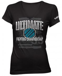 UFC Womens Shimmer T-Shirt - Black Mma Shirts, Mma Clothing, Ufc Women, Clothes For Women, Tees, My Style, Mens Tops, T Shirt, Shopping