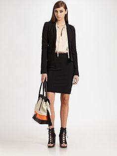 Diane von Furstenberg  Reiko Blazer  Edgy black blazer - ultimate power suit!