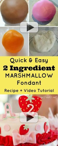 Quick and Easy 2 Ingredient Marshmallow Fondant {Recipe and Video Tutorial}
