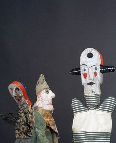 Paul Klee hand puppets There is a wonderful book about these puppets and more.