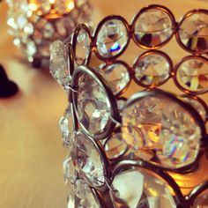 Crystal candle holders #events #centerpiece #pretty #beautiful #weddings #candles