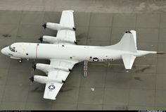 US Navy P-3 Orion submarine hunter aircraft