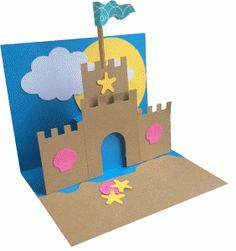 Silhouette Negozio Online - View Design # 62223: castello di sabbia pop up carta
