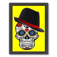 East Urban Home Hipster Skull Horror Framed Graphic Art Size: