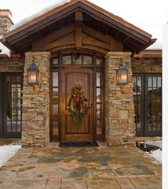 Awesome Entry Doors decorating ideas for Magnificent Entry Rustic design ideas with arched door christmas decor flagstone pavers glass doors Patio pavers raised panel Rustic house