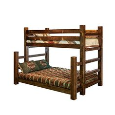 Montana Woodworks Homestead Collection Full Bunk Bed, Twin, Stain and Lacquer