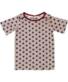 Kik-Kid cool star printed T-shirt in old pink. kik-kid.en.emilea.be