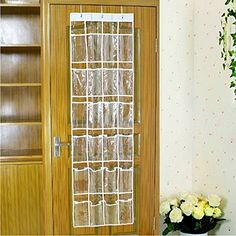 VWH 24 Pockets Transparent Shoes Storage Hanging Bags