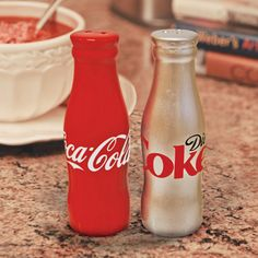 Coke salt & pepper shakers