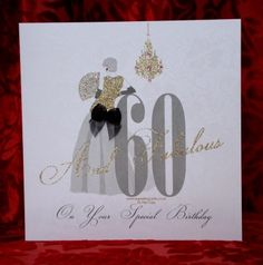 Birthday Cards For Women - Ladies Birthday Cards 60th Birthday Cards For Ladies, Sister Birthday, Birthday Parties, Birthday Ideas, 60th Birthday Invitations, Cricut Cards, Baby Cartoon, Cardmaking, Place Card Holders