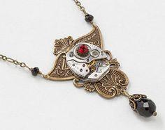 Steampunk Jewelry Steampunk Necklaces Cufflinks by steampunknation