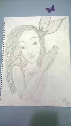 Cute mermaid /sketch /made by El.