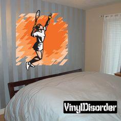 Tennis Wall Decal - Vinyl Sticker - Car Sticker - Die Cut Sticker - SMcolor005