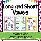 This is a set of long and short vowel posters and word sort cards.  Each poster contains five beautifully illustrated pictures and matching word be...